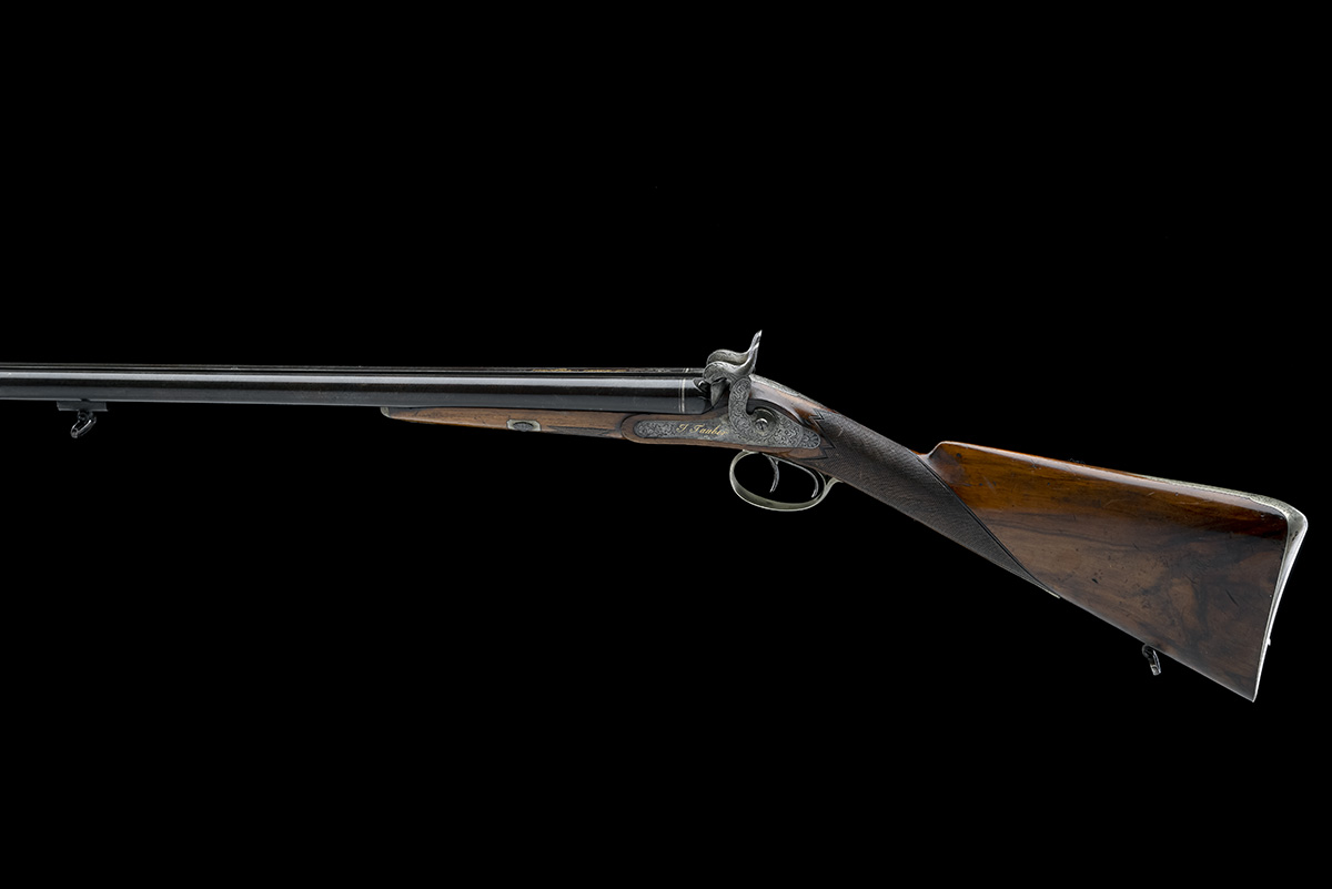 J. TAUBER, ZURICH A 14-BORE PERCUSSION DOUBLE-BARRELLED SPORTING-GUN, no visible serial number, - Image 2 of 9