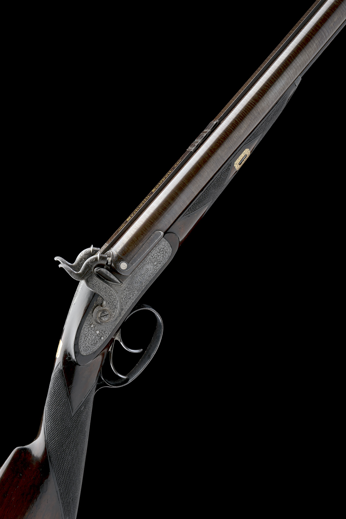 BECKWITH, LONDON A FINE CASED 15-BORE PERCUSSION DOUBLE-RIFLE FOR DANGEROUS GAME, serial no. 2747,