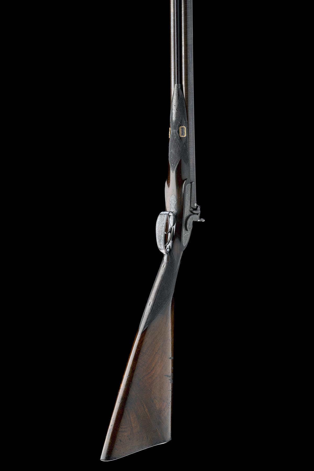 BECKWITH, LONDON A FINE CASED 15-BORE PERCUSSION DOUBLE-RIFLE FOR DANGEROUS GAME, serial no. 2747, - Image 7 of 14