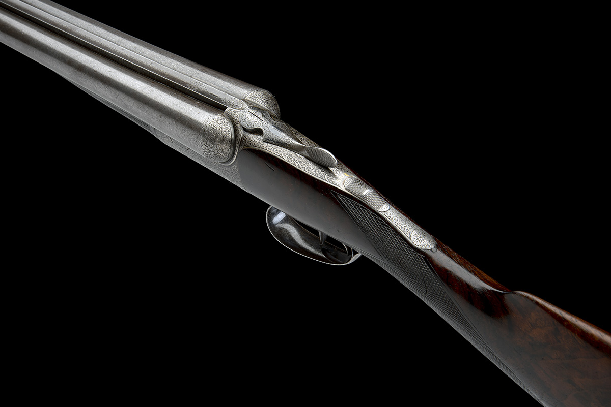 JOHN DICKSON & SON A 12-BORE 1887 PATENT 'ROUND-ACTION' TRIGGERPLATE-ACTION EJECTOR, serial no. - Image 8 of 8