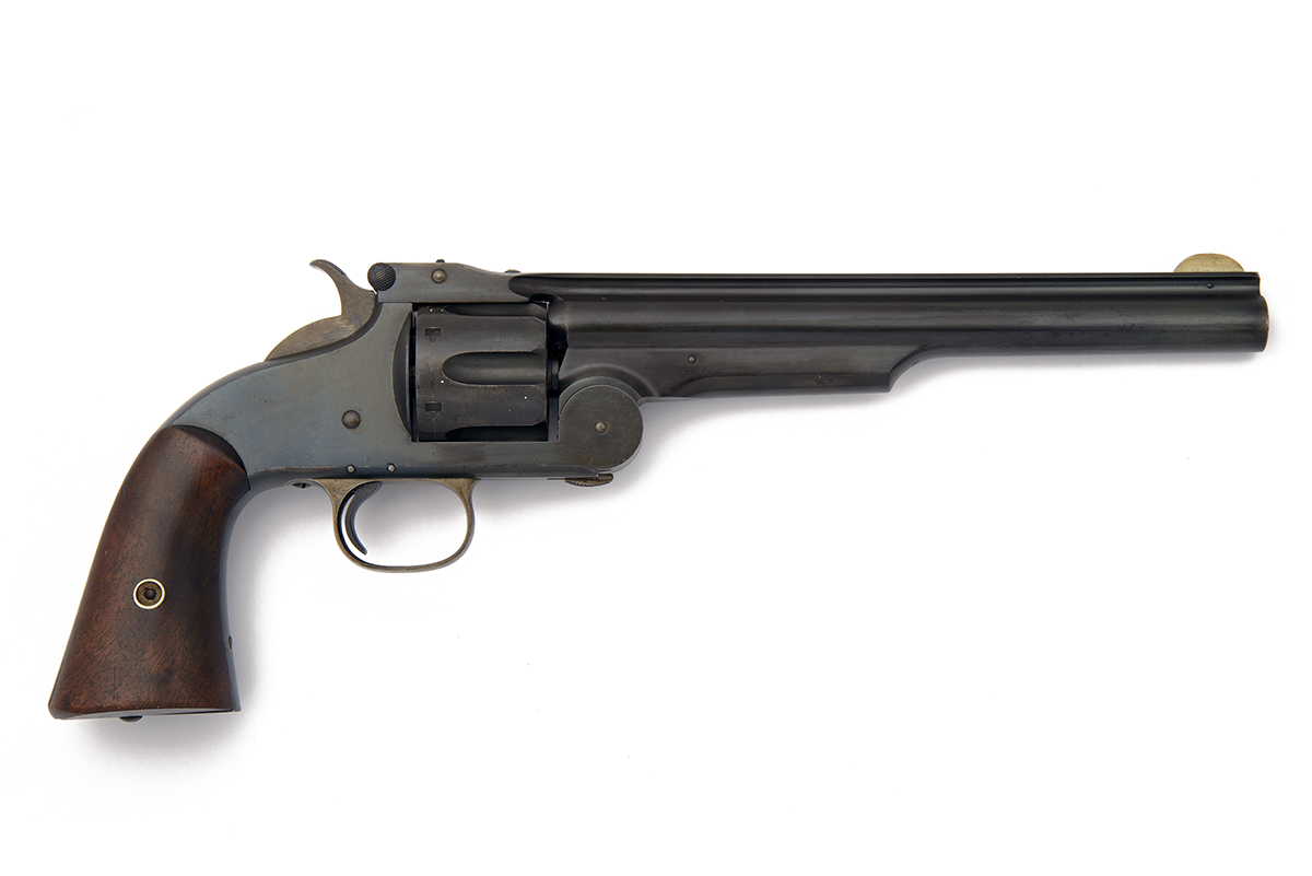 SMITH & WESSON, USA A SCARCE .44 (S&W AMERICAN) SIX-SHOT REVOLVER, MODEL 'No.3 FIRST MODEL