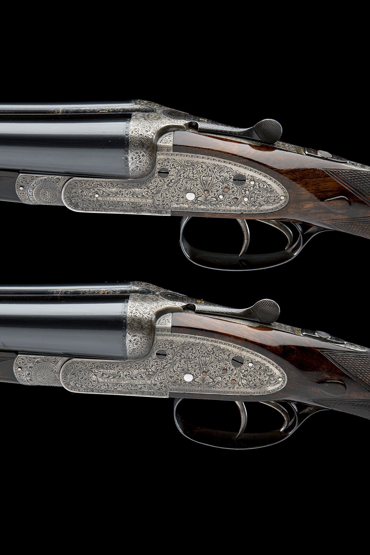WILLIAM EVANS A PAIR OF 12-BORE SIDELOCK EJECTORS, serial no. 12995 / 6, for 1923, 30in. nitro - Image 7 of 12