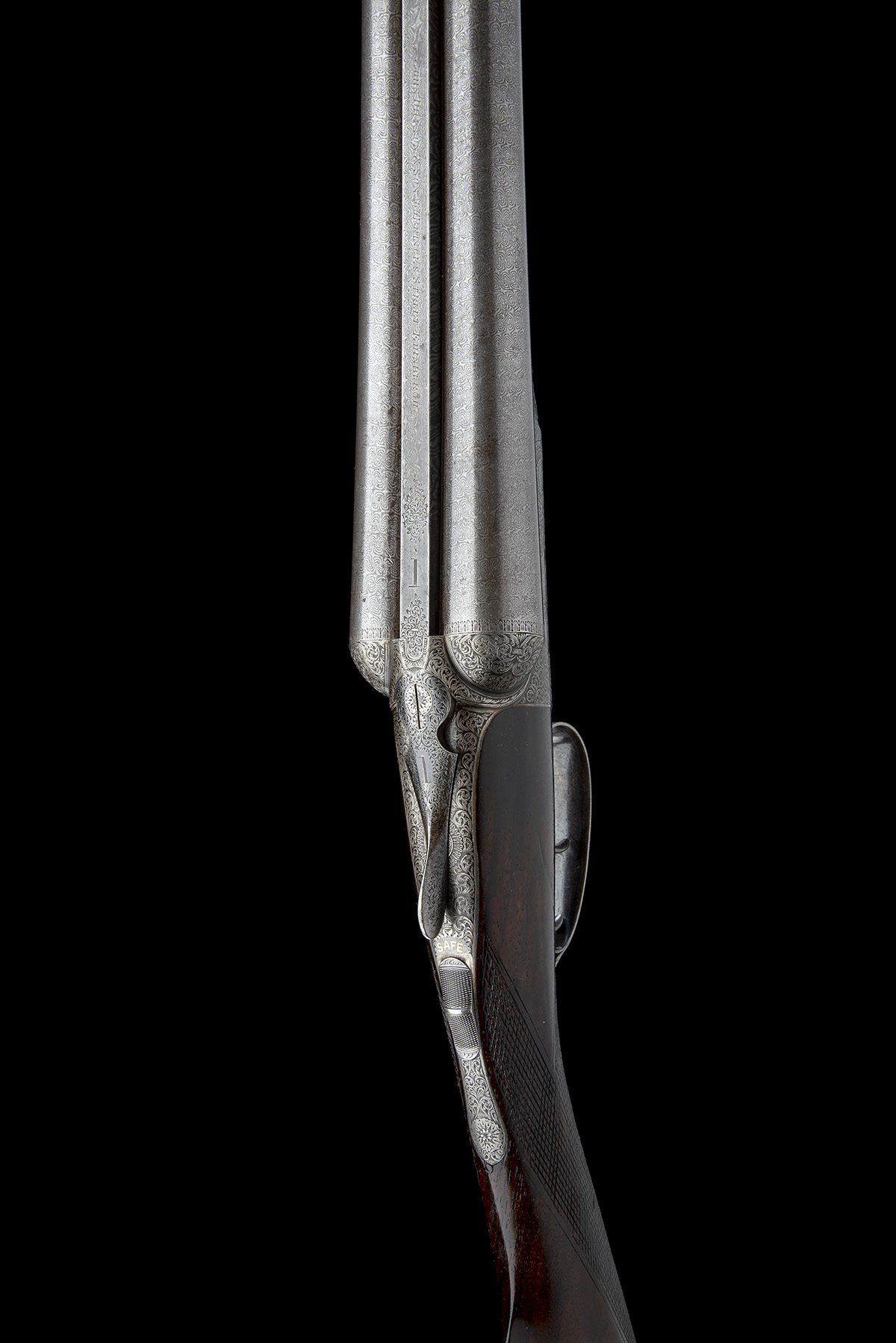 JOHN DICKSON & SON A 12-BORE 1887 PATENT 'ROUND-ACTION' TRIGGERPLATE-ACTION EJECTOR, serial no. - Image 4 of 8
