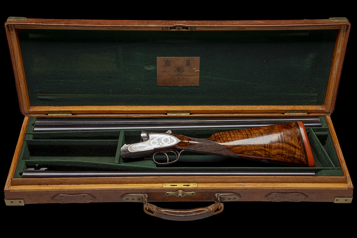 J. PURDEY & SONS A 12-BORE SELF-OPENING SIDELOCK EJECTOR LIVE PIGEON GUN, serial no. 21119, with - Image 8 of 9