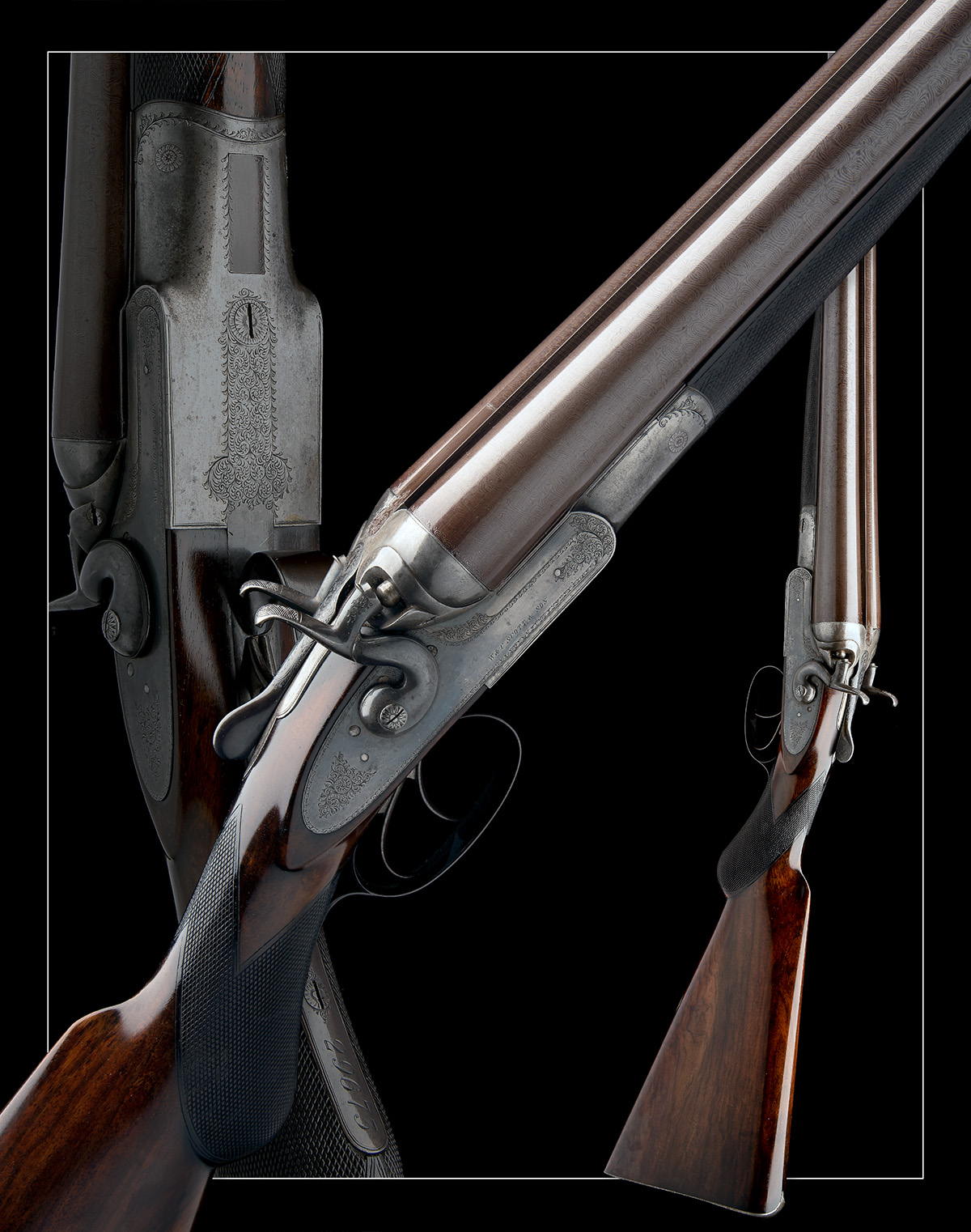 W. & C. SCOTT & SON AN 8-BORE 1865 PATENT DOUBLE-BARRELLED TOPLEVER HAMMERGUN, serial no. 29673, - Image 9 of 9