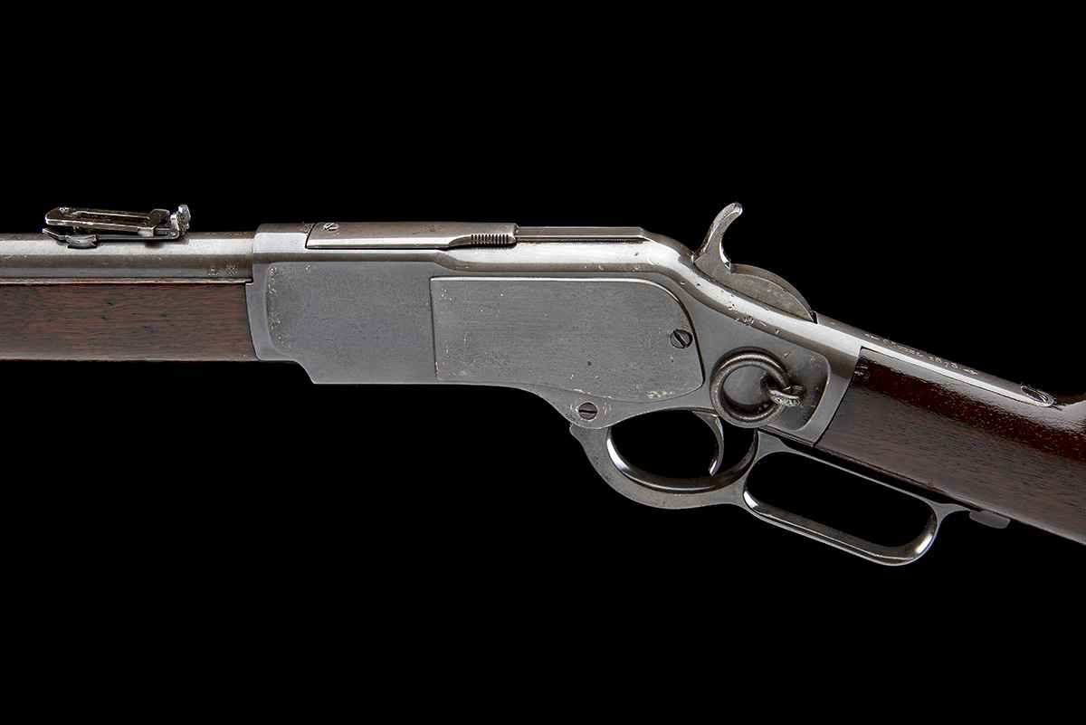 WINCHESTER REPEATING ARMS, USA A .44 W.C.F. 'MODEL 1873' LEVER-ACTION REPEATING SPORTING RIFLE, - Image 7 of 8