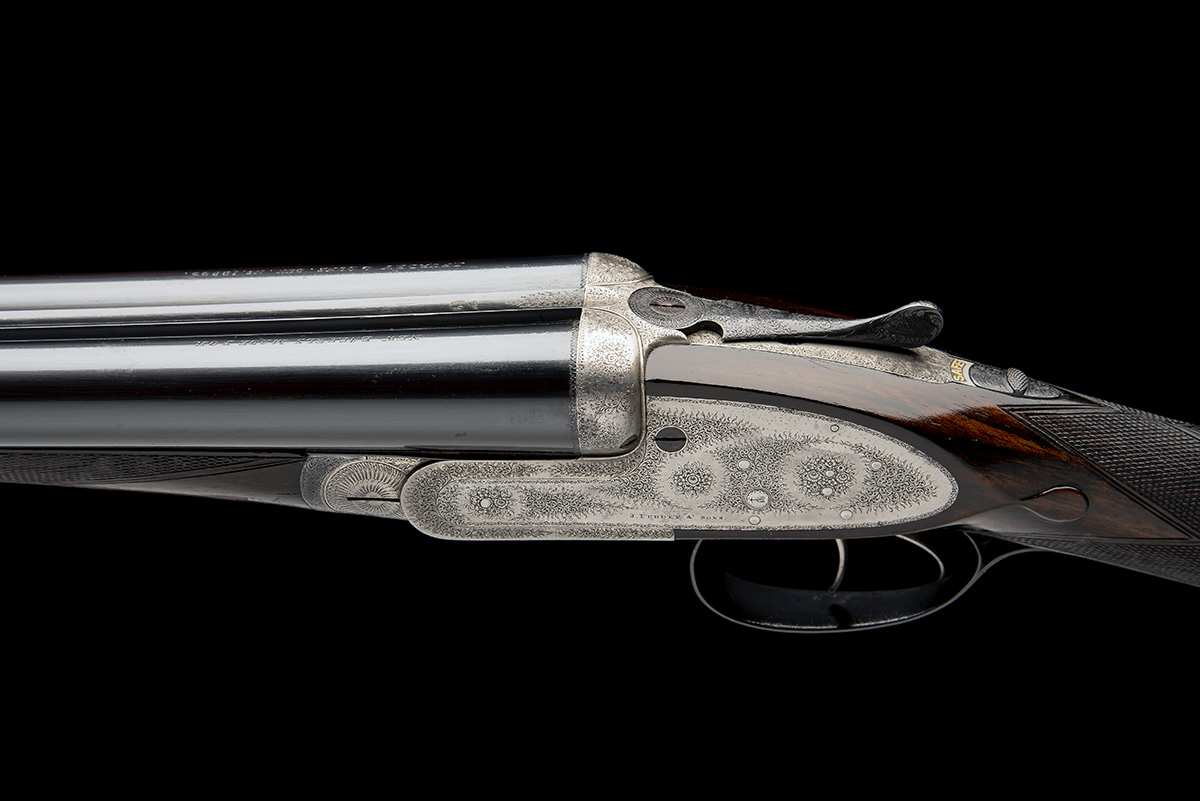 J. PURDEY & SONS A 12-BORE SELF-OPENING SIDELOCK EJECTOR, serial no. 12893, for 1888, 30in. nitro - Image 4 of 9