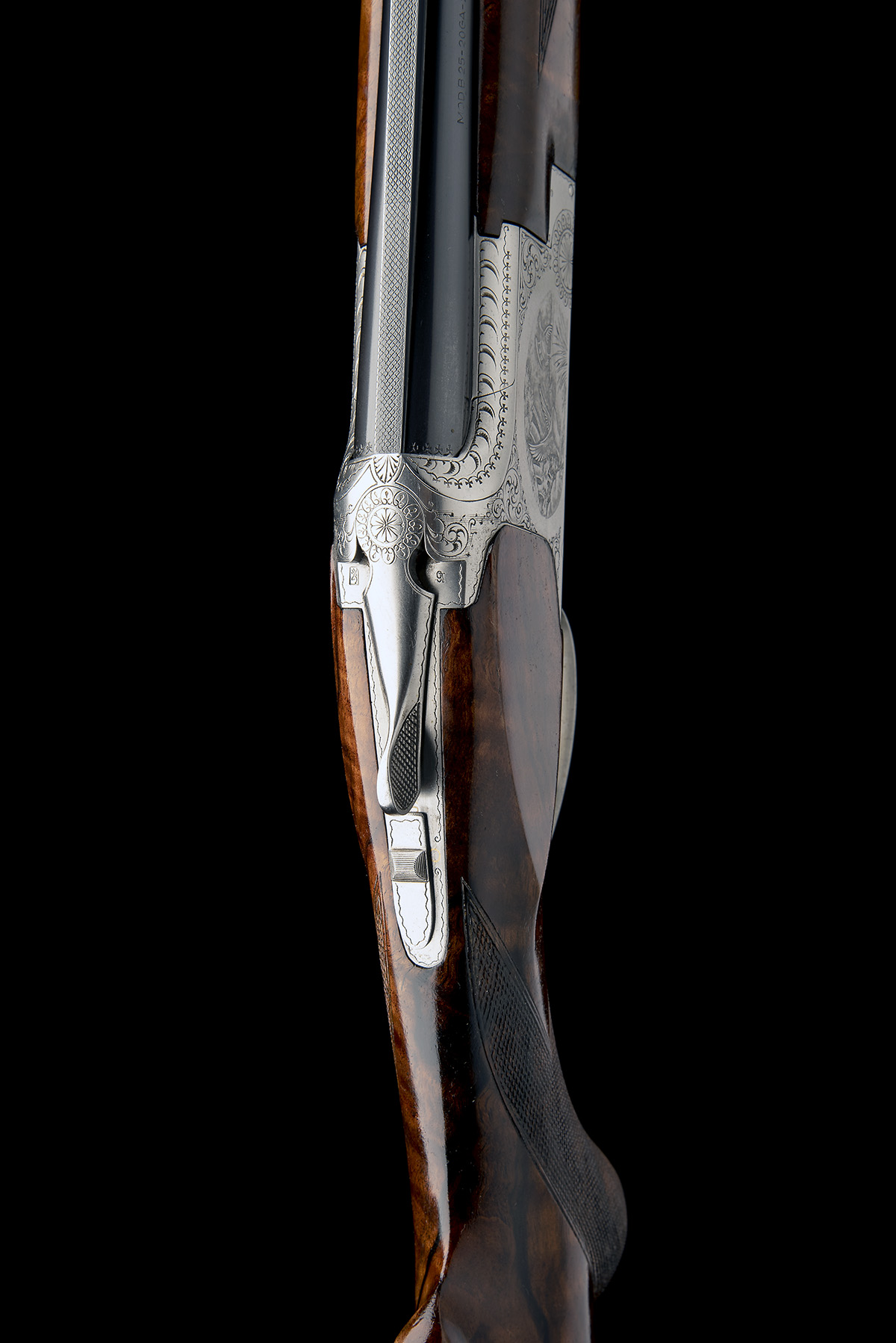 BROWNING ARMS COMPANY A PERFIDO-ENGRAVED 20-BORE 'MOD. B2G' SINGLE-TRIGGER OVER AND UNDER EJECTOR, - Image 6 of 11