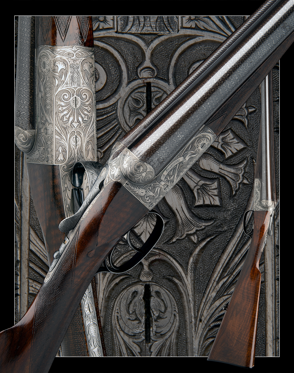 A. FRANCOTTE AN UNUSUAL AND HIGHLY DECORATIVE 12-BORE BOXLOCK NON-EJECTOR, serial no. 27792, - Image 11 of 12