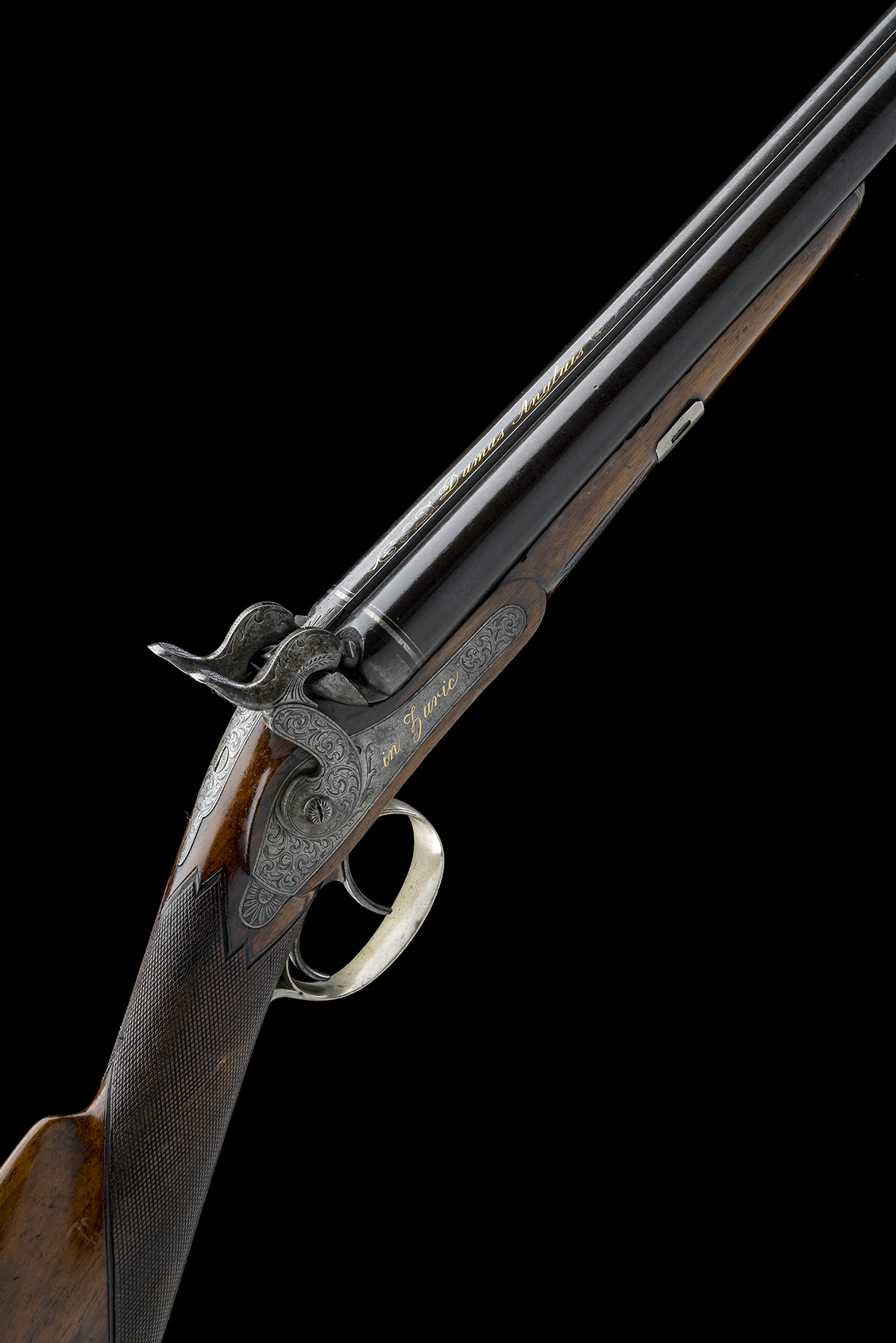 J. TAUBER, ZURICH A 14-BORE PERCUSSION DOUBLE-BARRELLED SPORTING-GUN, no visible serial number,