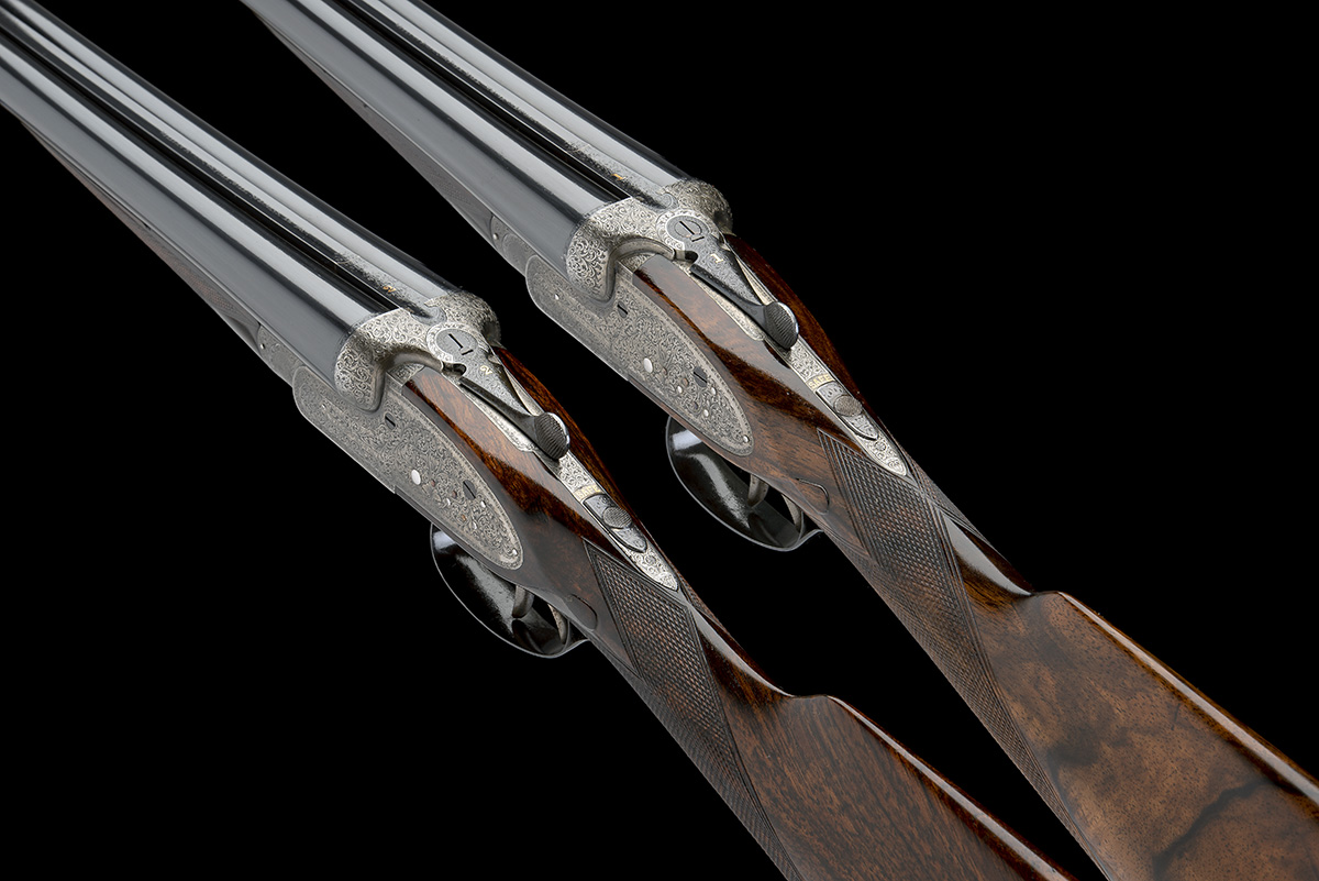 WILLIAM EVANS A PAIR OF 12-BORE SIDELOCK EJECTORS, serial no. 12995 / 6, for 1923, 30in. nitro - Image 8 of 12