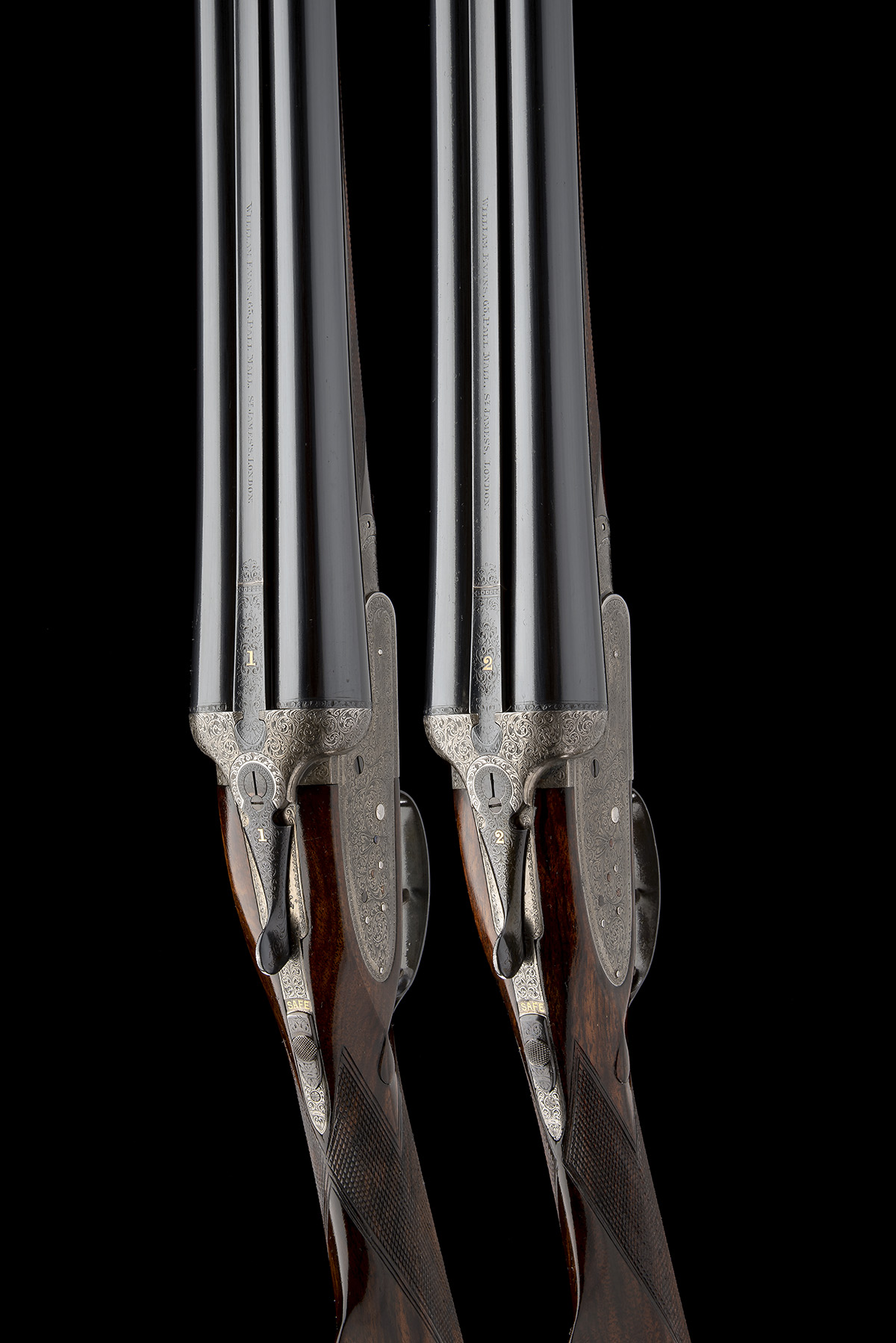 WILLIAM EVANS A PAIR OF 12-BORE SIDELOCK EJECTORS, serial no. 12995 / 6, for 1923, 30in. nitro - Image 4 of 12