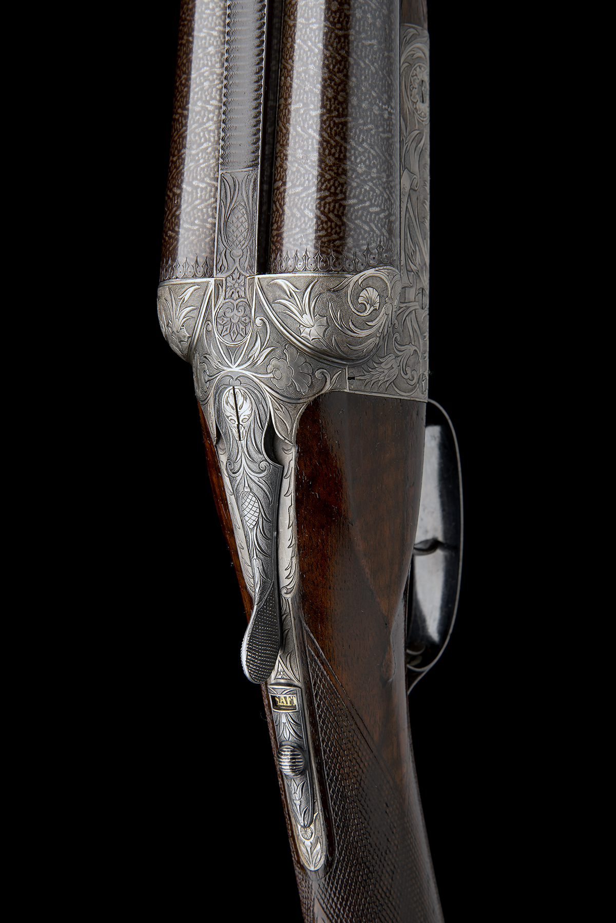 A. FRANCOTTE AN UNUSUAL AND HIGHLY DECORATIVE 12-BORE BOXLOCK NON-EJECTOR, serial no. 27792, - Image 6 of 12