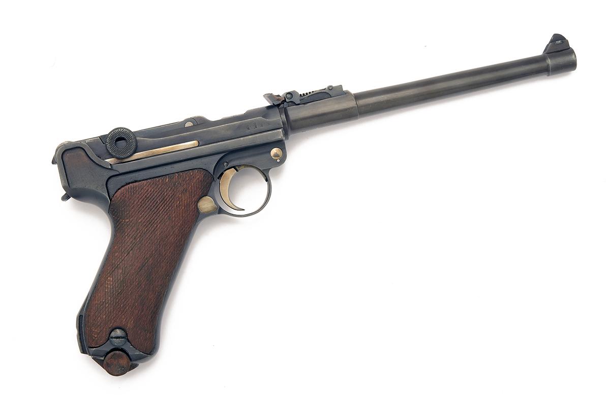 DWM, GERMANY A 9mm (PARA) SEMI-AUTOMATIC SERVICE-PISTOL, MODEL 'P08 LANGE' or 'LUGER ARTILLERY', - Image 2 of 2