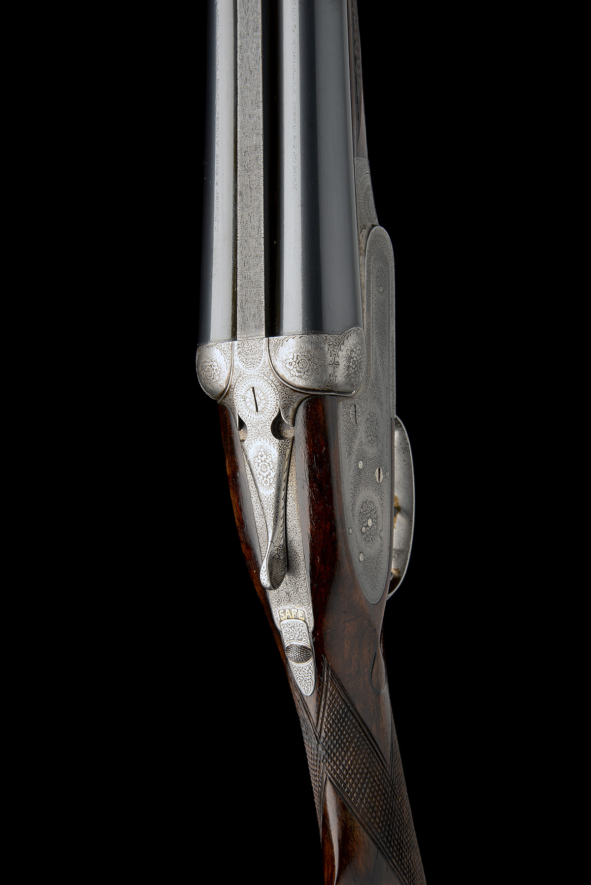 J. PURDEY & SONS A 12-BORE SELF-OPENING SIDELOCK EJECTOR LIVE PIGEON GUN, serial no. 21119, with - Image 4 of 9