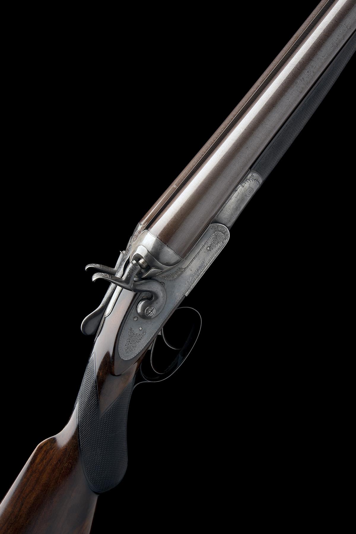 W. & C. SCOTT & SON AN 8-BORE 1865 PATENT DOUBLE-BARRELLED TOPLEVER HAMMERGUN, serial no. 29673,