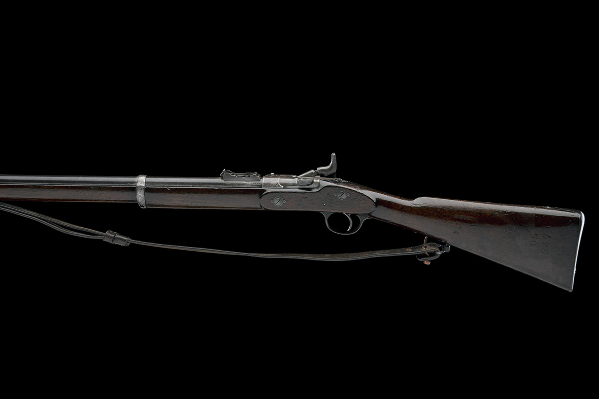 ENFIELD, ENGLAND A .577 (SNIDER) BREECH-LOADING SERVICE-RIFLE, MODEL 'MKIII TWO-BAND', serial no. - Image 2 of 10