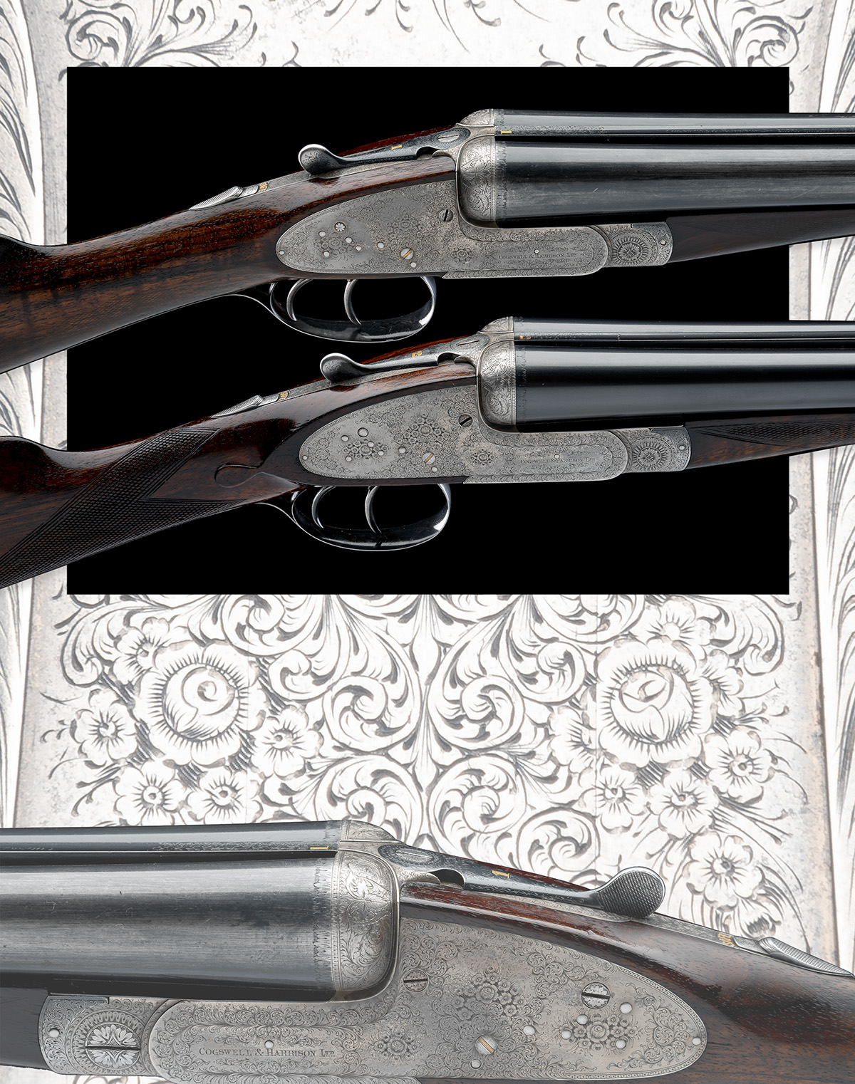 COGSWELL & HARRISON A PAIR OF 12-BORE 'EXTRA QUALITY VICTOR' SIDELOCK EJECTORS, serial no. 42510/ - Image 10 of 10