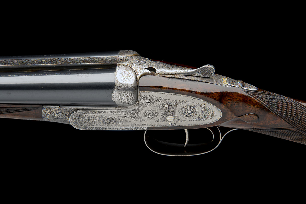J. PURDEY & SONS A 12-BORE SELF-OPENING SIDELOCK EJECTOR LIVE PIGEON GUN, serial no. 21119, with - Image 6 of 9