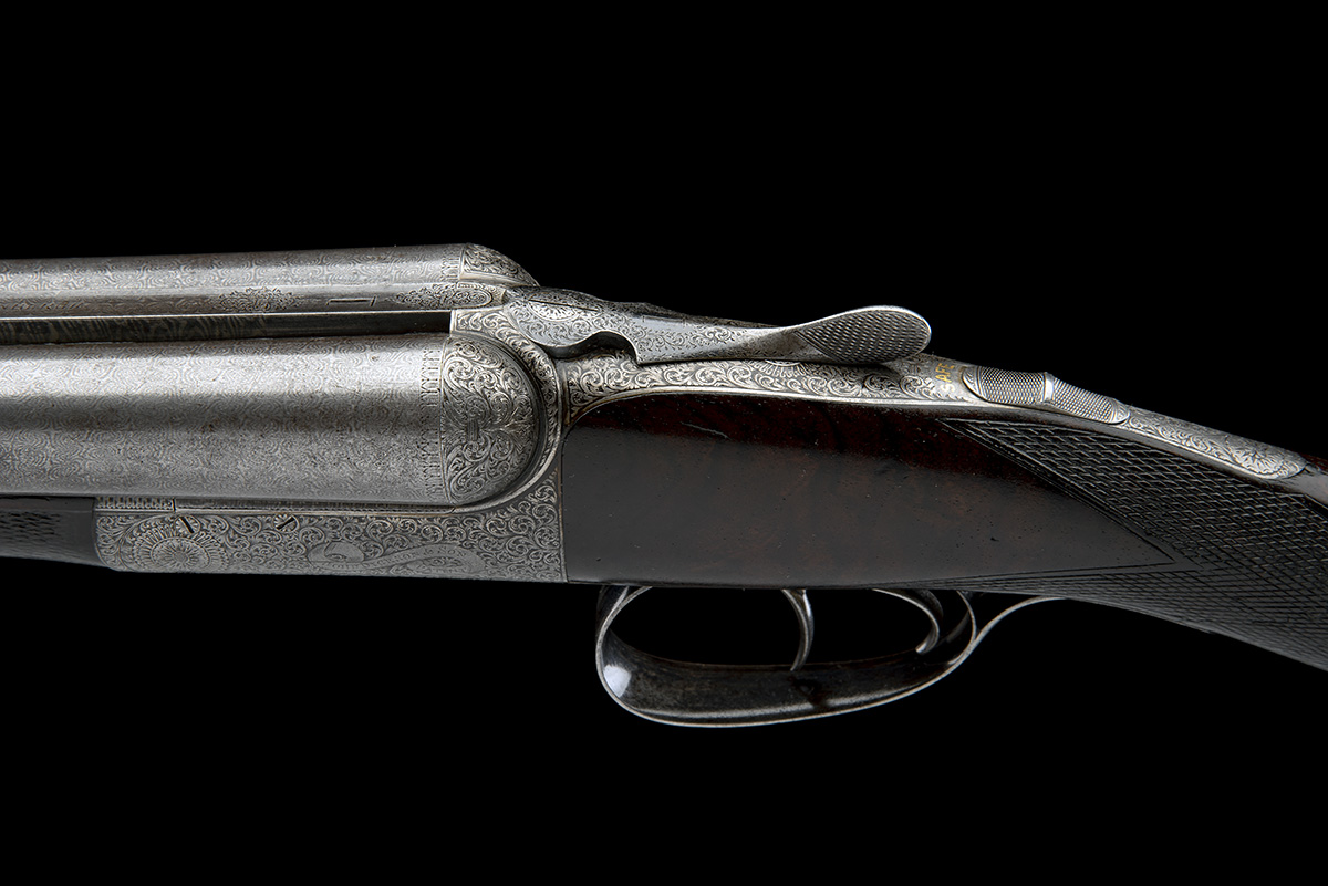 JOHN DICKSON & SON A 12-BORE 1887 PATENT 'ROUND-ACTION' TRIGGERPLATE-ACTION EJECTOR, serial no. - Image 7 of 8