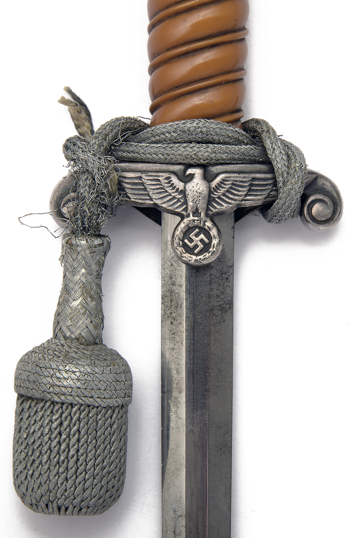 ALCOSO, SOLINGEN A WORLD-WAR TWO GERMAN ARMY DRESS DAGGER, World War Two production in nickel silver - Image 3 of 4