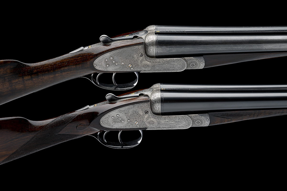 COGSWELL & HARRISON A PAIR OF 12-BORE 'EXTRA QUALITY VICTOR' SIDELOCK EJECTORS, serial no. 42510/