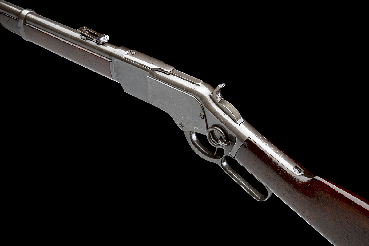 WINCHESTER REPEATING ARMS, USA A .44 W.C.F. 'MODEL 1873' LEVER-ACTION REPEATING SPORTING RIFLE, - Image 8 of 8