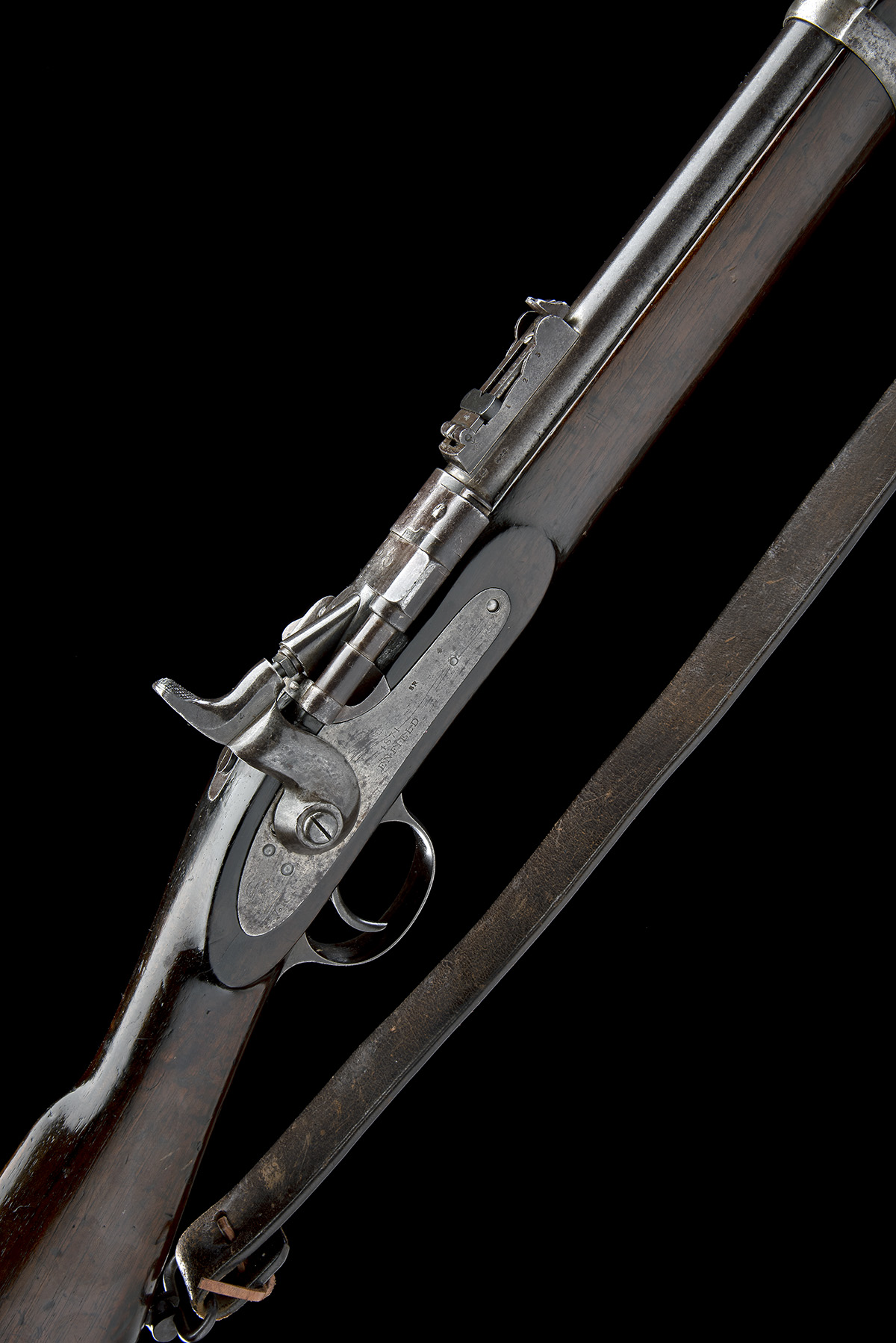 ENFIELD, ENGLAND A .577 (SNIDER) BREECH-LOADING SERVICE-RIFLE, MODEL 'MKIII TWO-BAND', serial no.