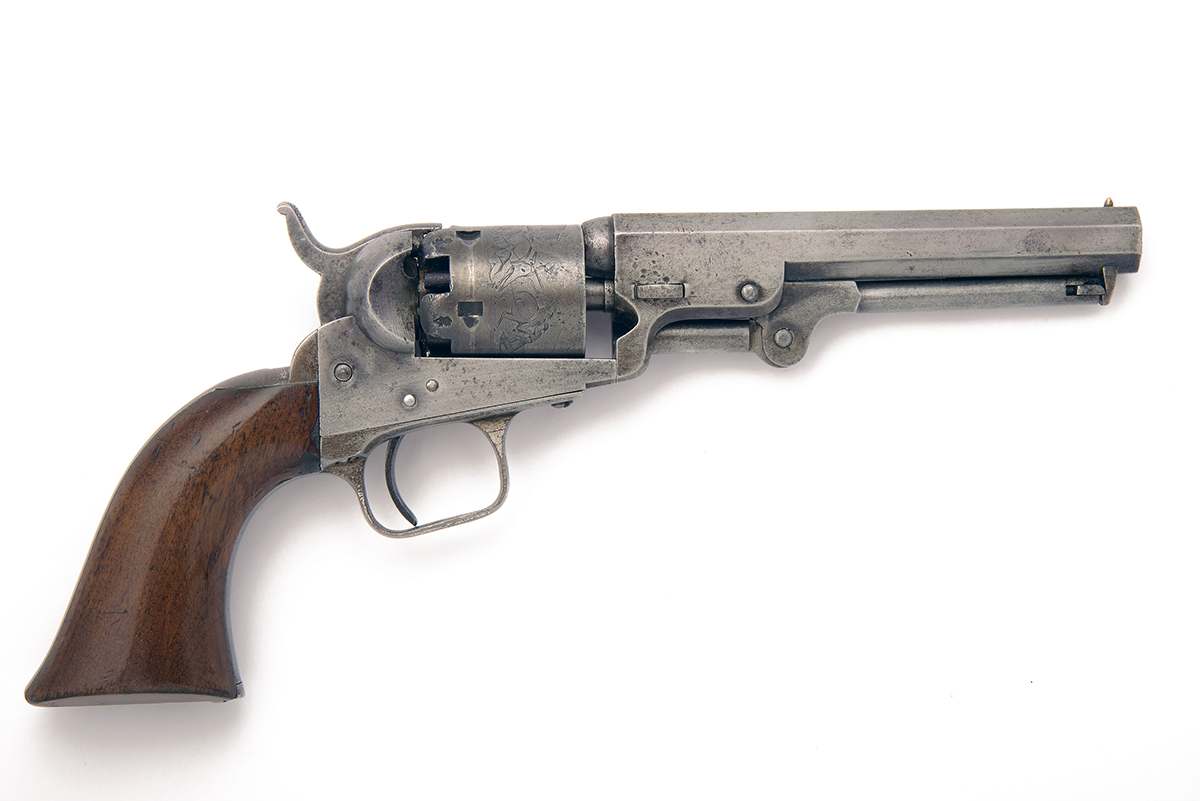COLT, LONDON A CASED .31 PERCUSSION REVOLVER, MODEL '1849 LONDON POCKET', serial no. 8436, for 1855, - Image 2 of 5