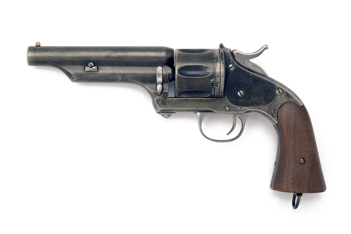 MERWIN HULBERT, USA A SCARCE .44 (M&H) SIX-SHOT SINGLE-ACTION REVOLVER MODEL 'ARMY, FIRST ISSUE', - Image 2 of 3