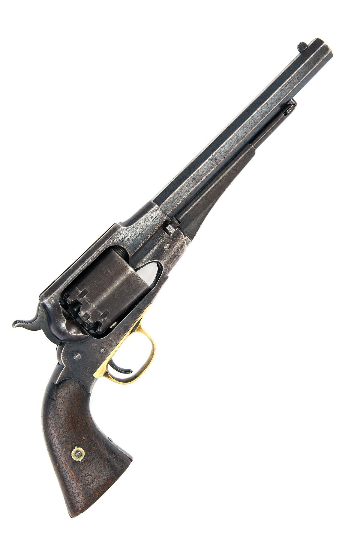 E. REMINGTON & SONS, USA A .44 PERCUSSION REVOLVER, MODEL '1858 NEW MODEL ARMY', serial no. 42618,