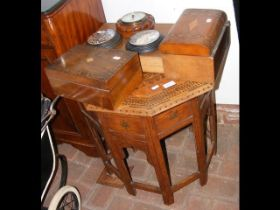 A Middle Eastern occasional table together with Pr