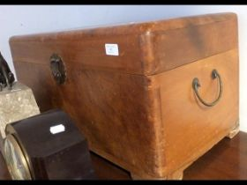 A small proportioned camphor wood chest - 73cms