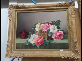 JAMES NOBLE - oil on board still life entitled 'Th