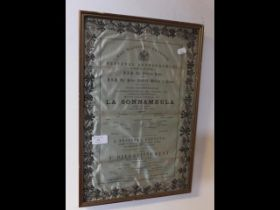 A commemorative silk programme in honour of The Pr