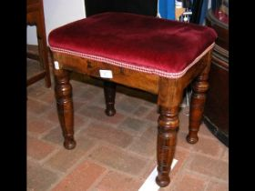A 19th century rosewood stool - 40cms high
