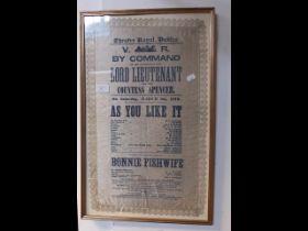 A commemorative silk programme Theatre Royal, Dubl