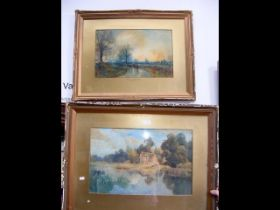 SAMUEL TOWERS R. C. A - pair of watercolours 'Afte