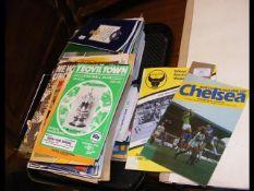 A quantity of vintage football programmes, includi