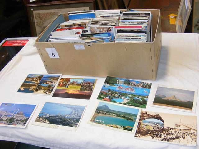 A large box containing over 2000 topographical pos