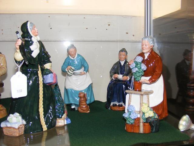 Royal Doulton figurines - 'Christmas Parcels', 'F