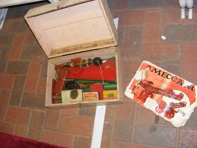 Vintage Meccano in wooden box