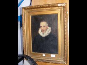 Oil on canvas portrait - 35cm x 24cm
