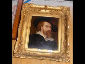 Oil on canvas - self portrait of Rubens - in de