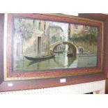 SCOTT - An oil on canvas of Venetian canal scene -