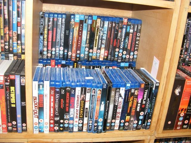 A generous assortment of Blu-ray DVD's (50+)
