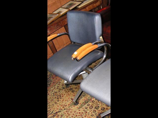 A modern swivel office chair