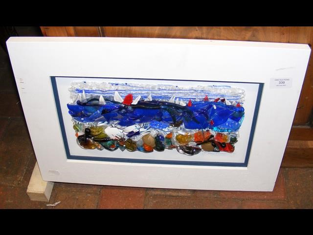 BRIAN MARRIOTT - glass art 'View from the Shore'