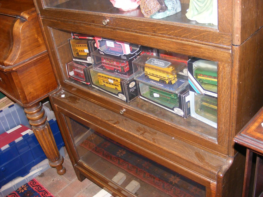 A Globe Wernicke style four section bookcase - Image 3 of 6