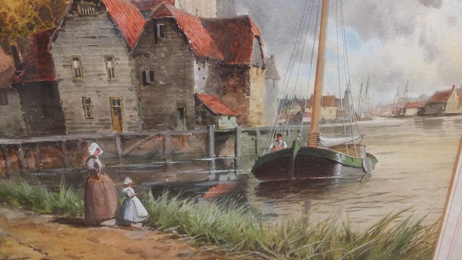 VAN STAATEN - large pair of watercolours of coasta - Image 3 of 9